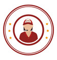 colorful circular emblem with male customer vector image