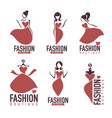 fashion and beautysalon studio boutique logo and vector image