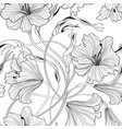 floral seamless pattern flower lily bouquet vector image