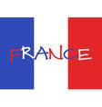 France 2016 Football poster France flag background vector image