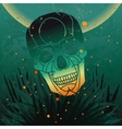 halloween skull background vector image