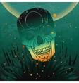 halloween skull background vector image