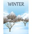 Nature scene in winter vector image