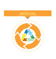 recycling logo design with circle graphic vector image