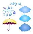 set of icons for your rain vector image