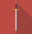 Sword icon flat style vector image