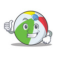 thumbs up ball character cartoon style vector image