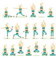 Women posing pose yoga vector image