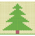 Christmas tree knilted background vector image vector image