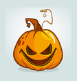 Scary Halloween pumpkin cartoon vector image