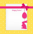 easter card and seamless pattern with eggs vector image