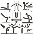 Gymnastics Artistic icons vector image