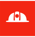 Firefighter helmet icon Isolated on red background vector image