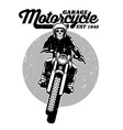skull riding a motorcycle vector image