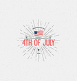 Fourth of July Independence Day USA badges logos vector image