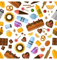 Pastry and bakery seamless pattern vector image
