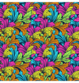 bright colorful seamless pattern with leaves vector image