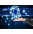 Businessman future web technology vector image