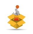 circus animal isolated icon design vector image