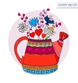 colored watering can vector image