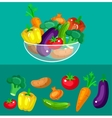 Eco food menu background Flat detailed vegetable vector image