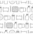 Feminine hygiene Seamless pattern with cosmetics vector image