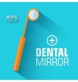 flat medical dental mirror background conce vector image