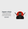 japan ninja banner horizontal concept vector image
