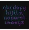 neon alphabet Font vector image