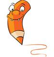 orange crayon - vector image