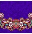 paisley design on decorative floral violet colour vector image