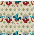 seamless pattern with repetitive flowers vector image