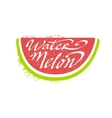 Watermelon Name Of Fruit Written In Its Silhouette vector image
