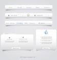 Web site navigation menu pack vector image