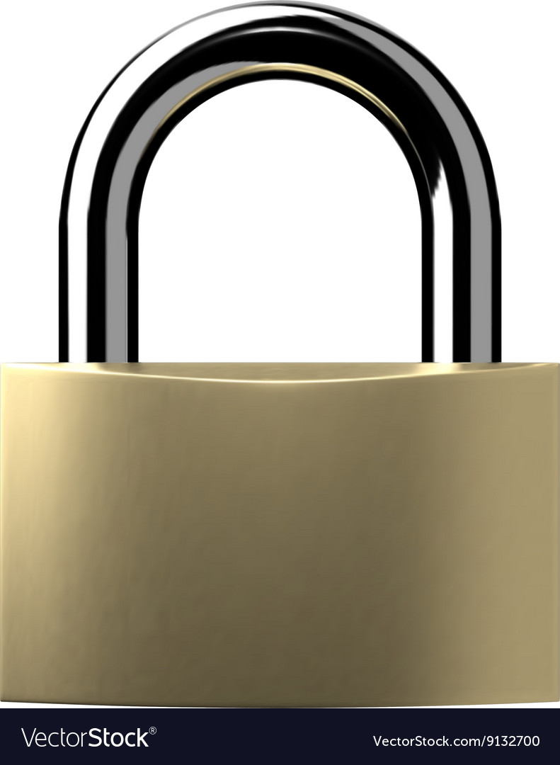 Closed lock isolated vector
