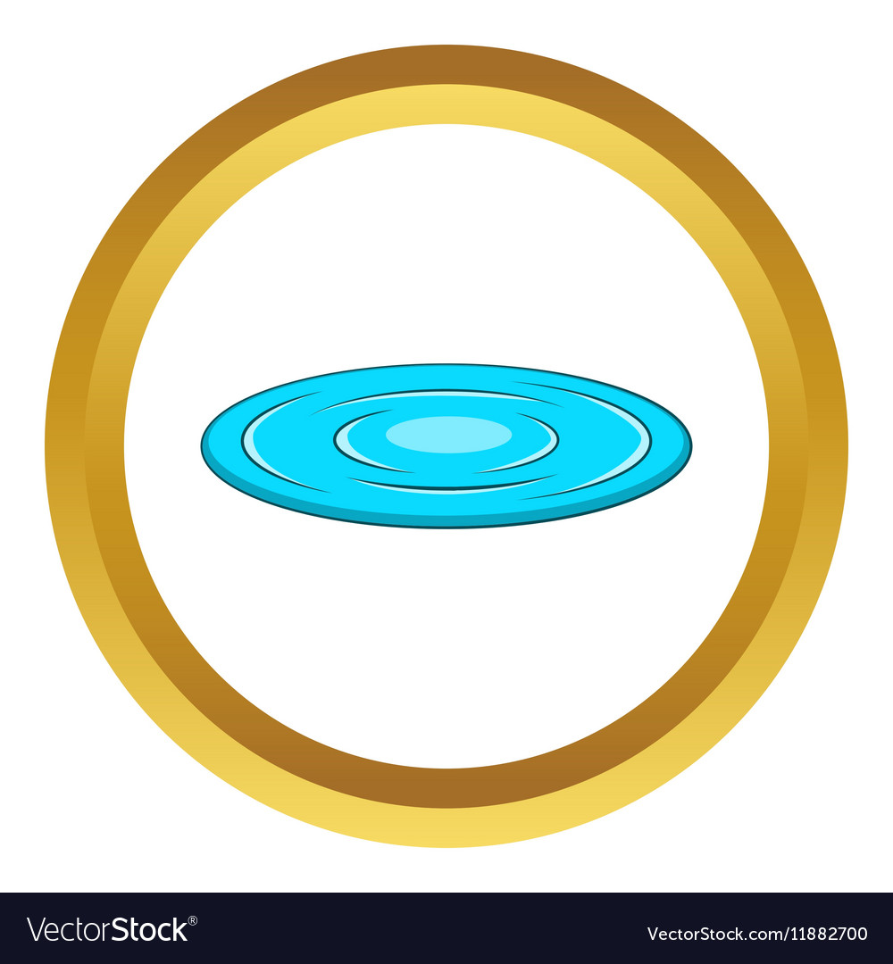Lake icon vector