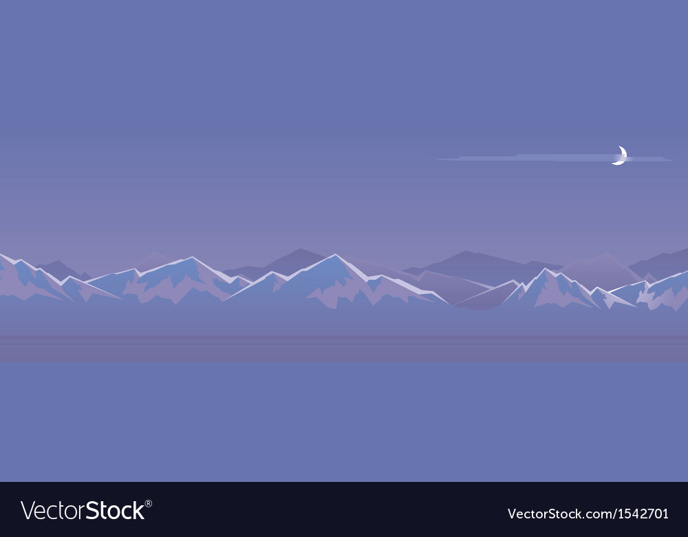 Mountain at night vector