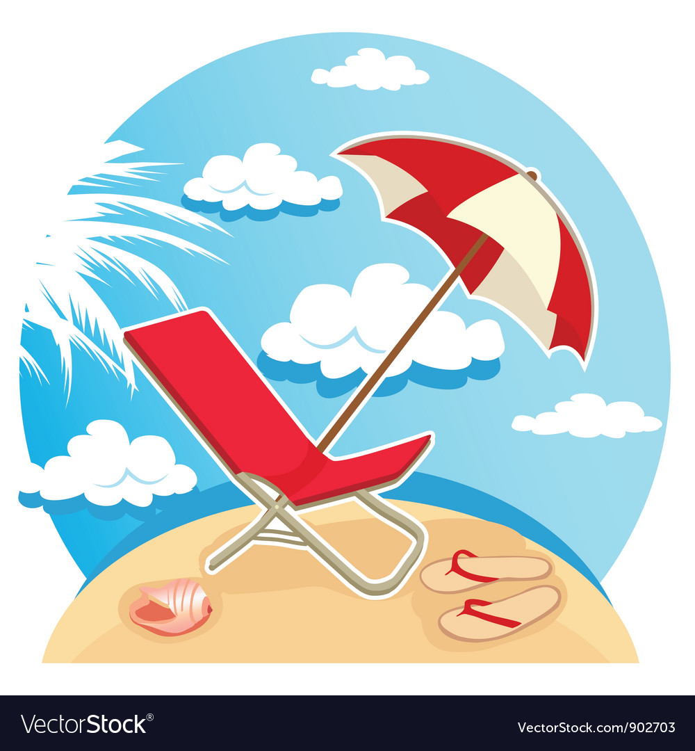 Summer tropical beach vector