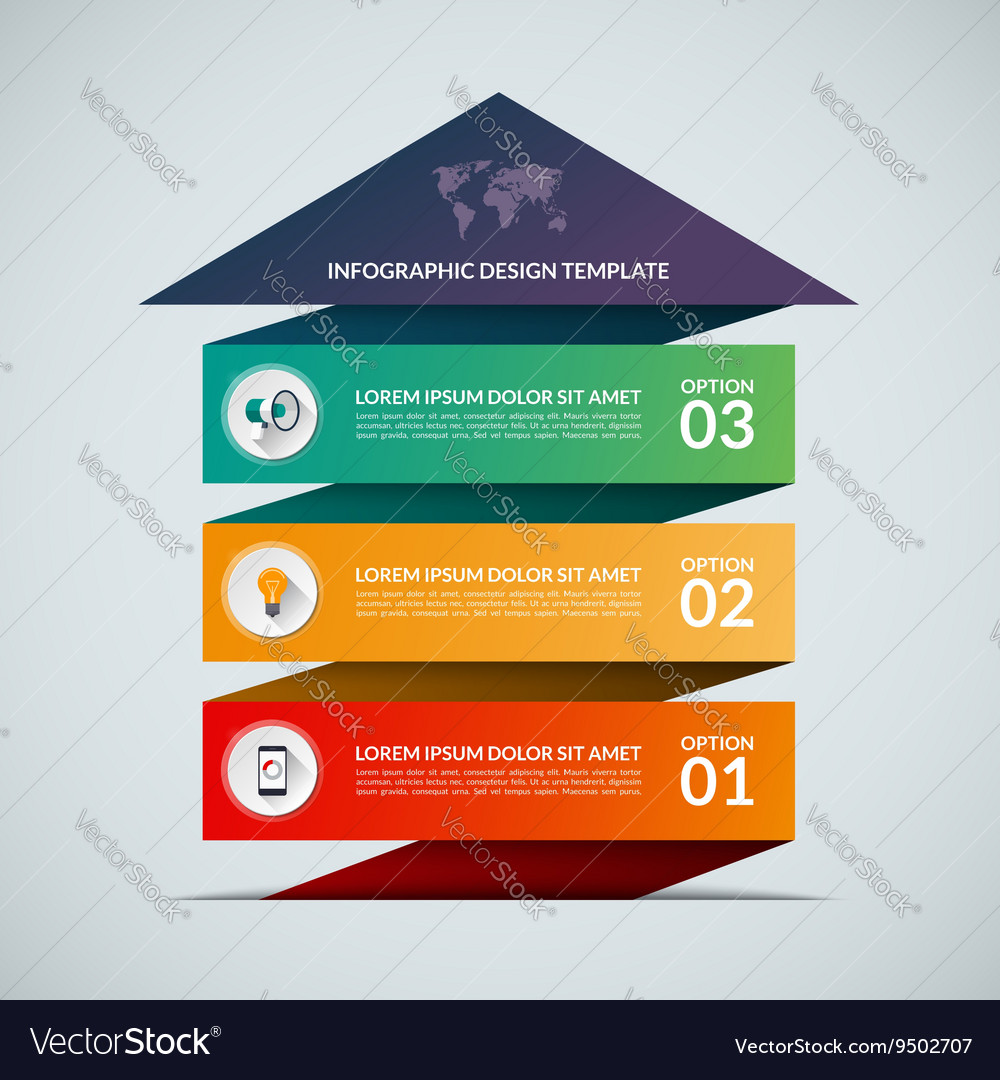 Business growth concept banner with 3 options vector