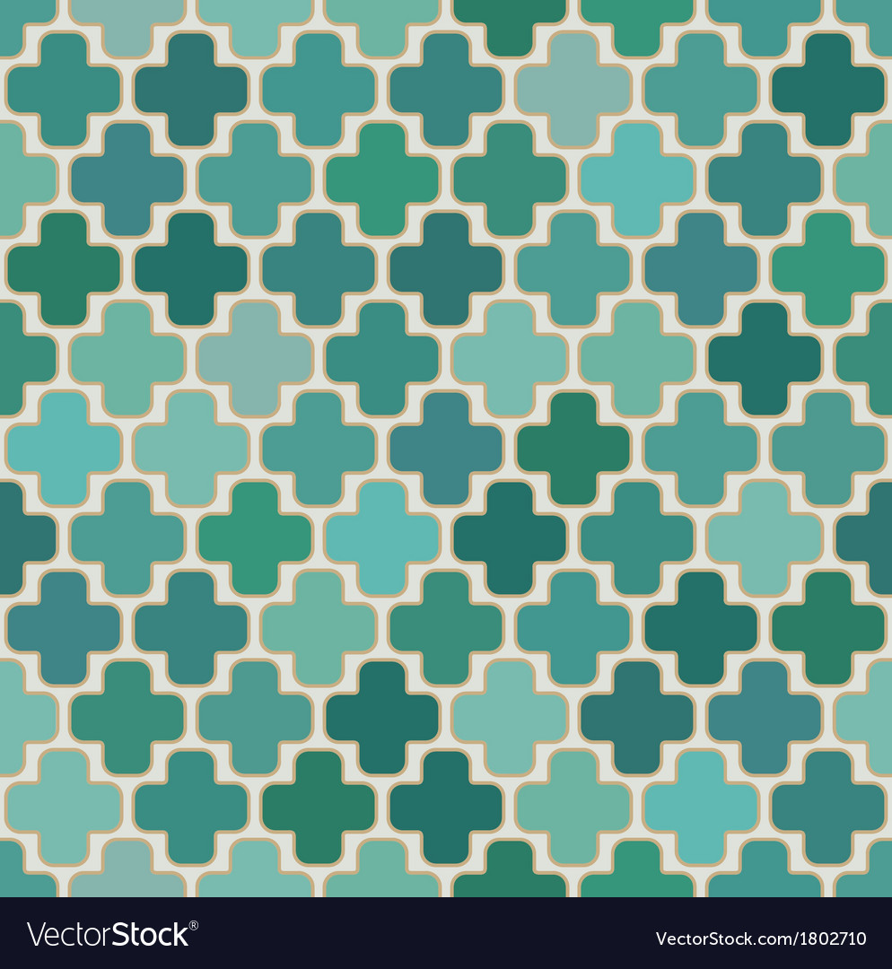 Seamless cross islamic pattern vector