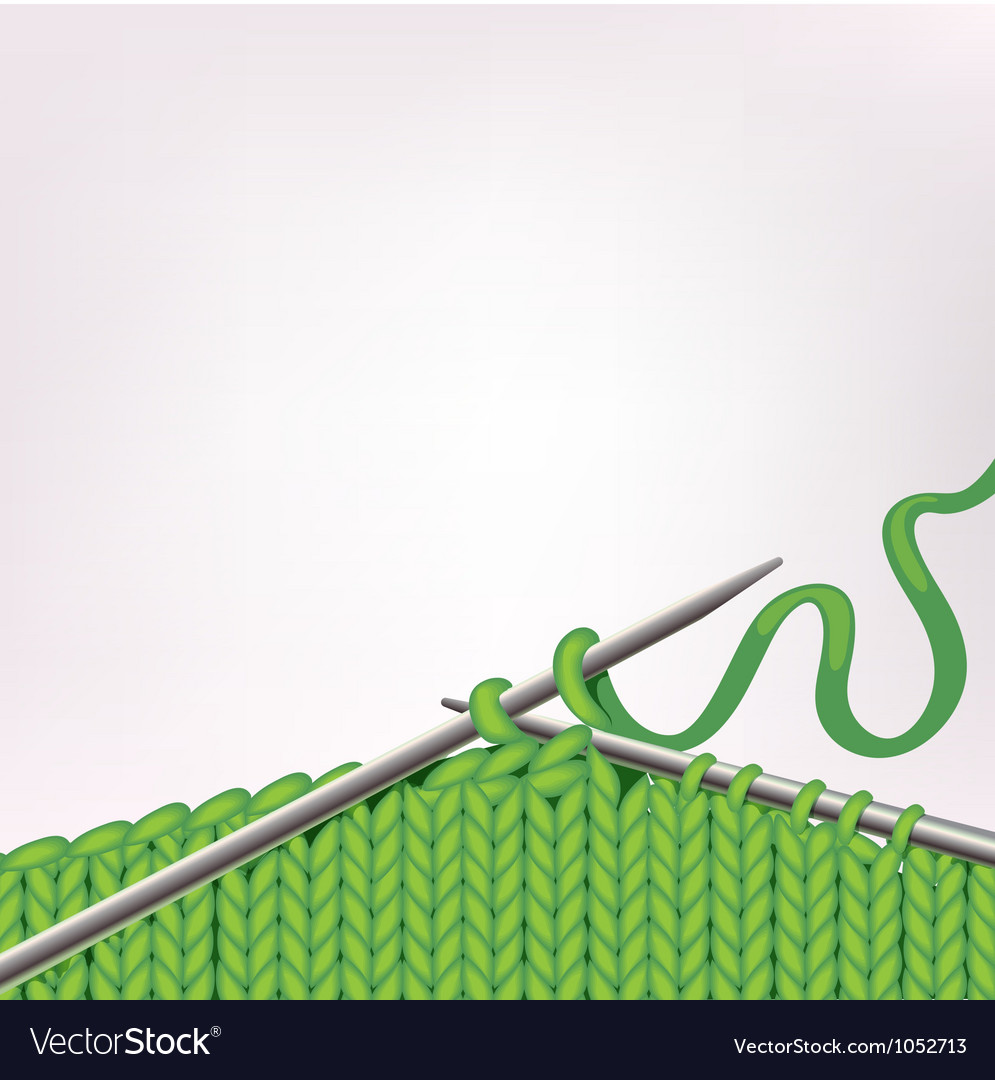 Background with knitting vector