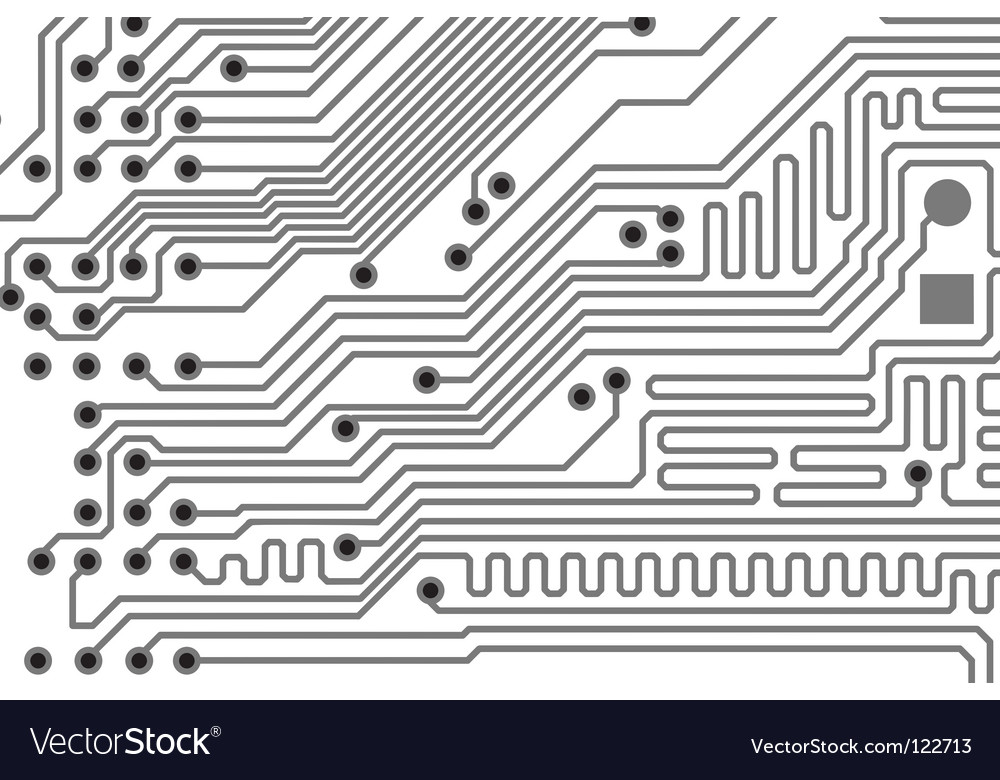 Printed board background vector