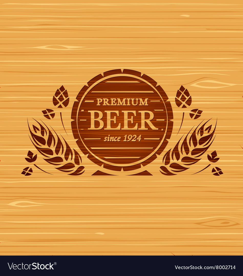 Template beer emblem vector