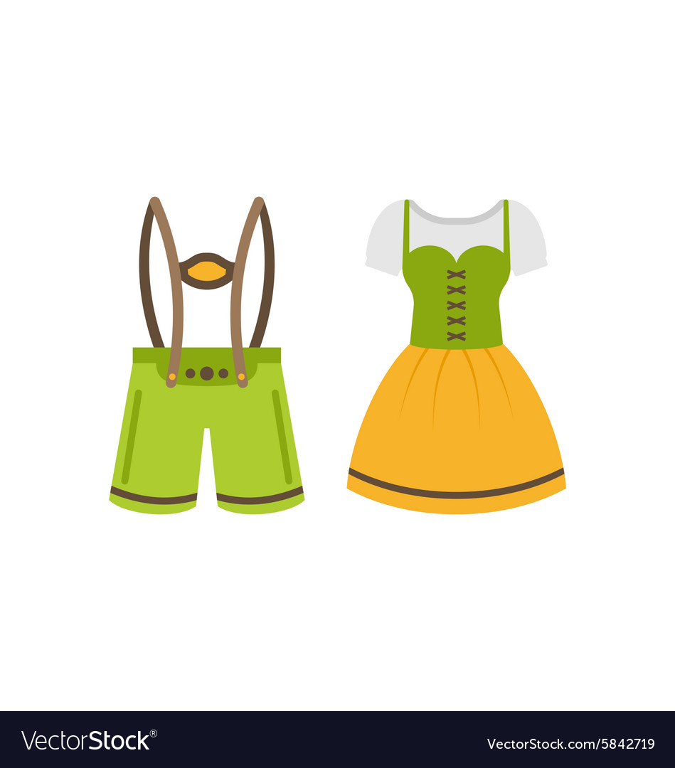 Pretty bavarian girl oktoberfest woman isolated vector