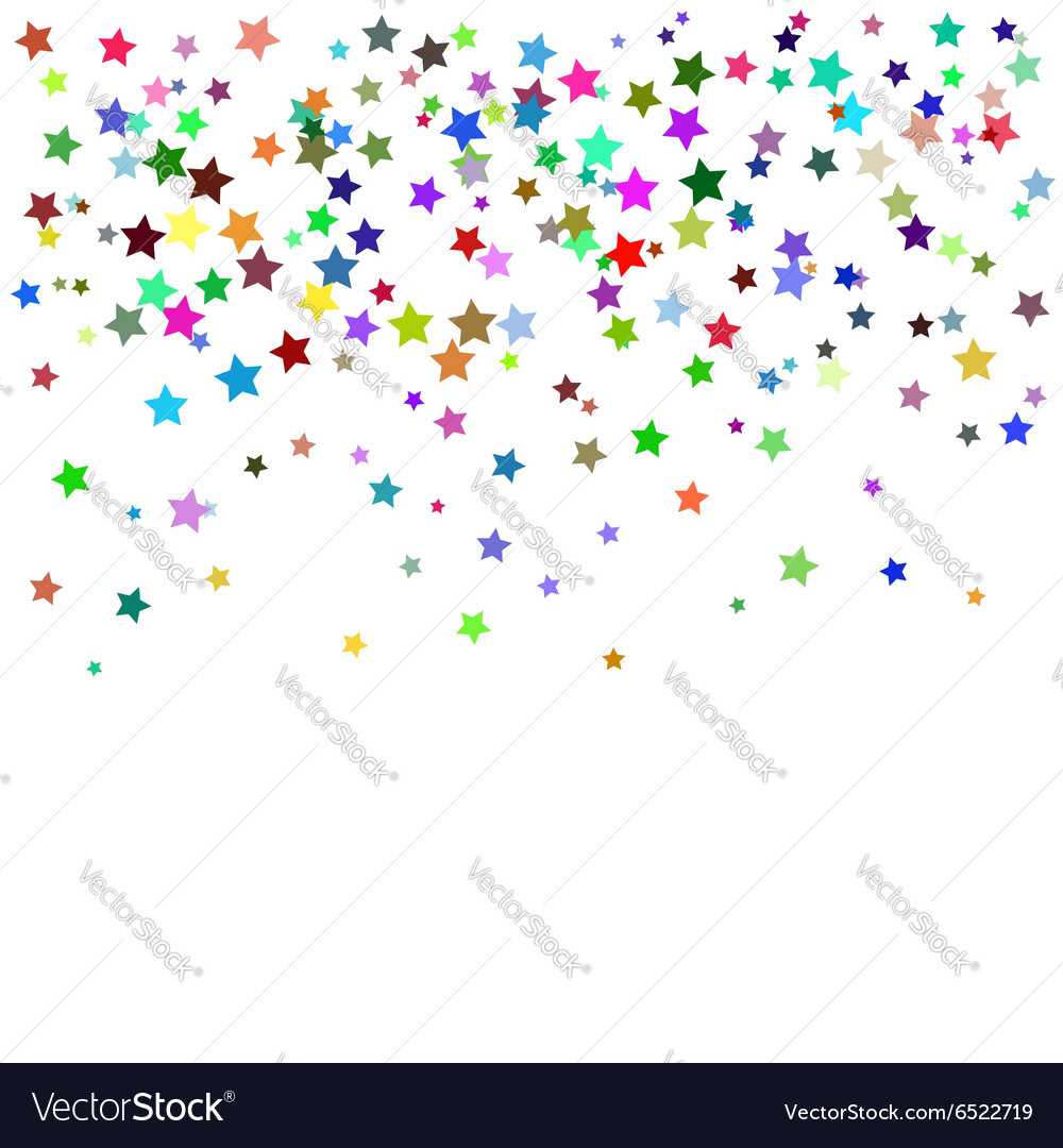 Set of colorful stars vector