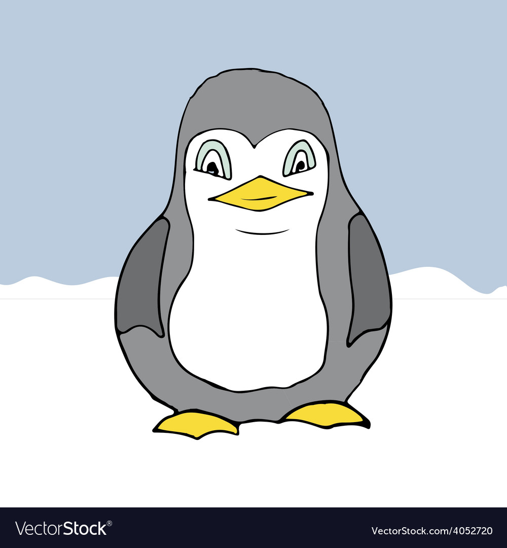 Cartoon style penguin vector