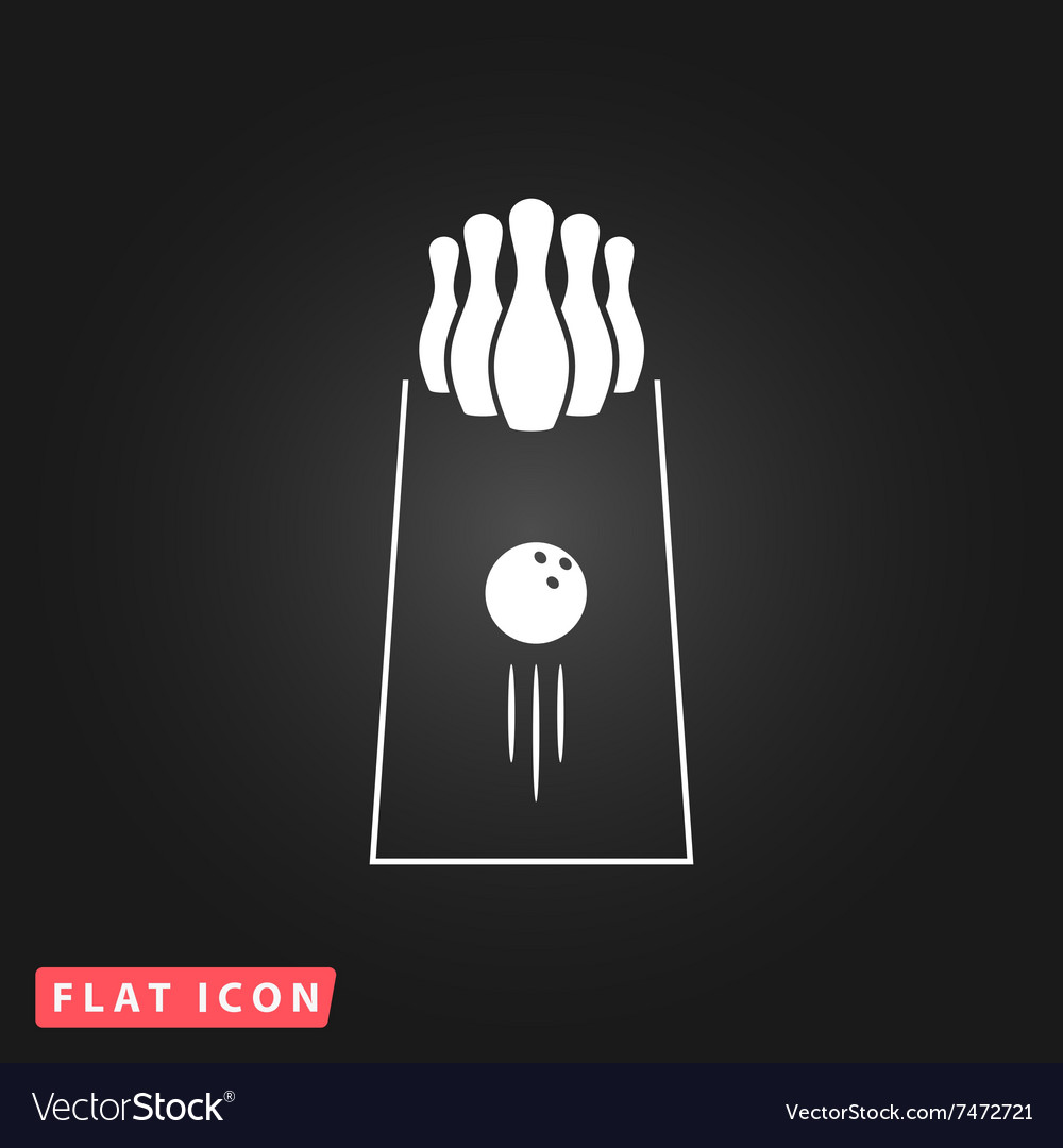 Bowling icon game symbol flat vector