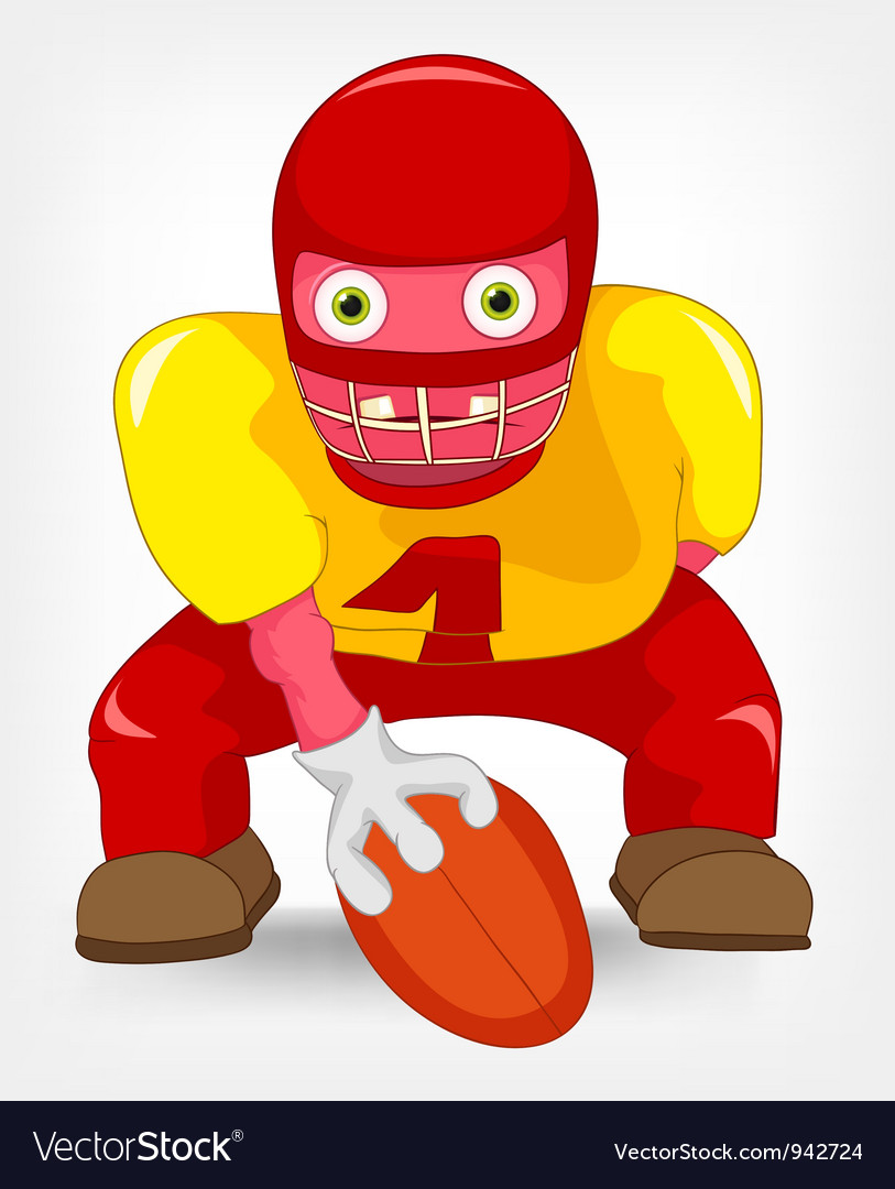 Funny monster rugby vector