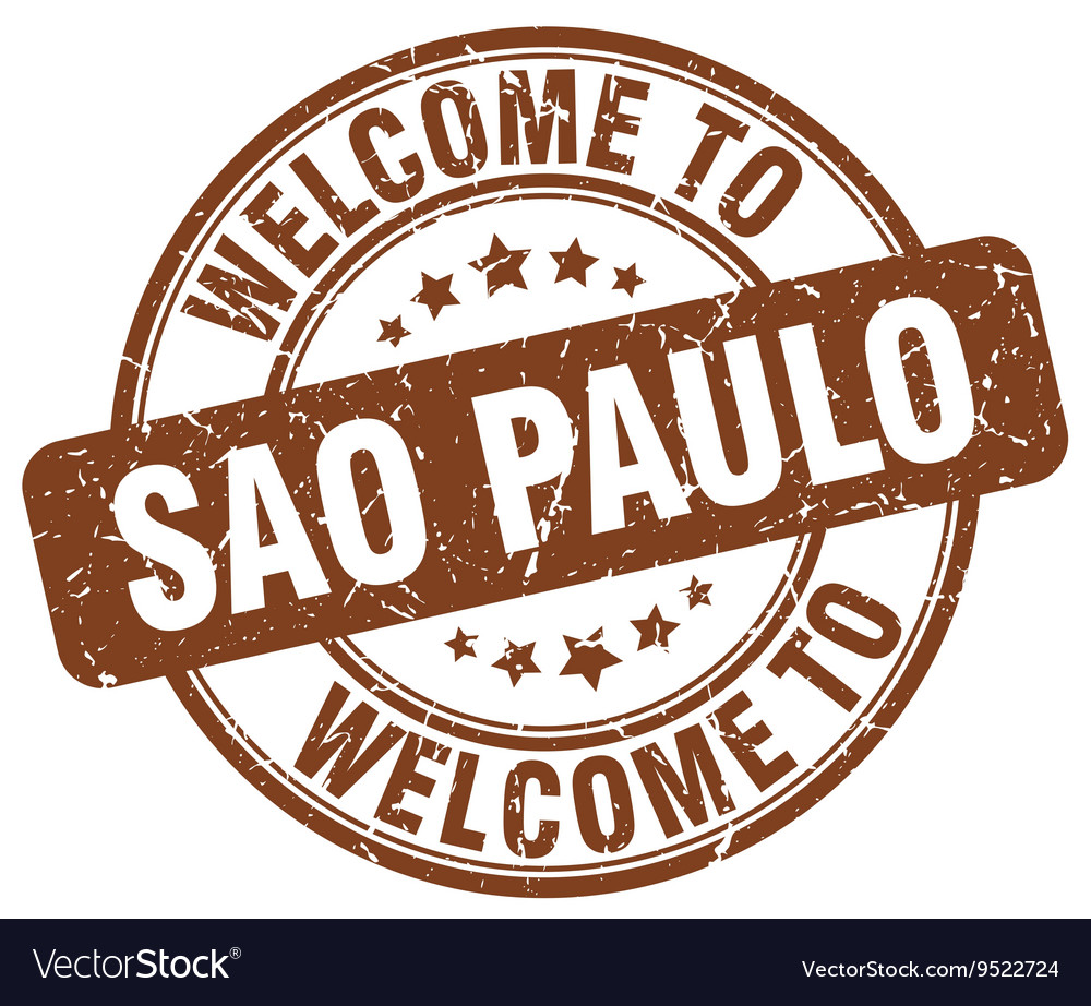 Welcome to sao paulo vector