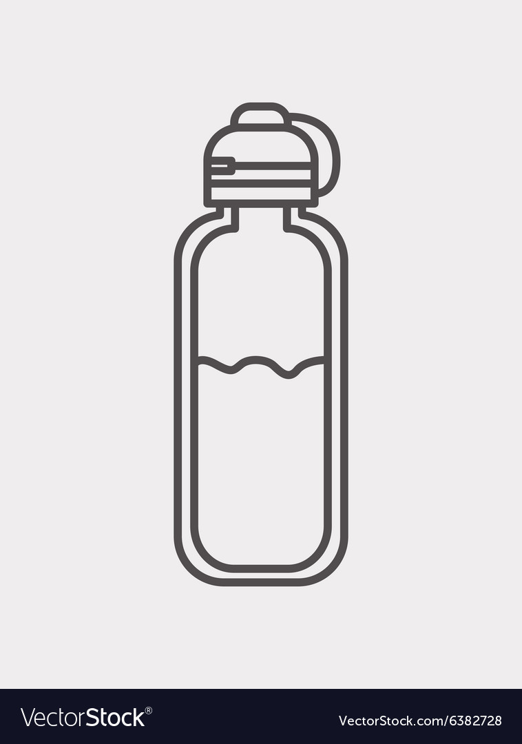 Bottle water icon vector